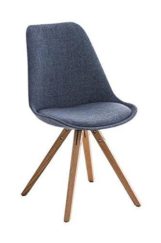 Esszimmerstuhl, Küchenstuhl, Lehnenstuhl, Sitzgelegenheiten, Besucherstuhl, Stuhl, Wartezimmerstuhl, Wohnzimmerstuhl Stoff natura blau #PeglegS