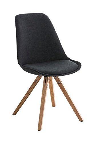 Esszimmerstuhl, Küchenstuhl, Lehnenstuhl, Sitzgelegenheiten, Besucherstuhl, Stuhl, Wartezimmerstuhl, Wohnzimmerstuhl Stoff natura schwarz #PeglegS