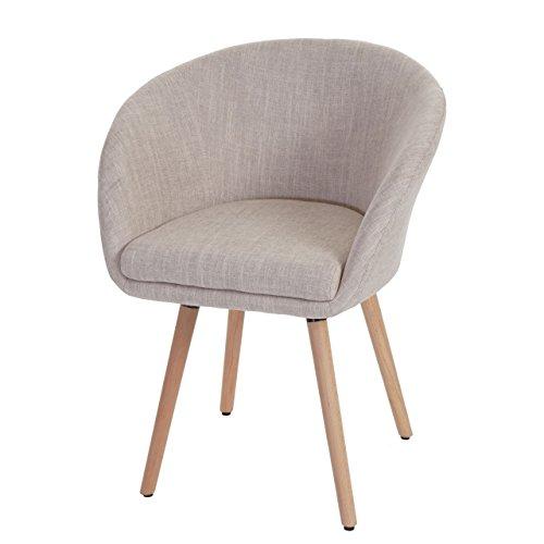 Esszimmerstuhl-Malm-T633-Stuhl-Lehnstuhl-Retro-50er-Jahre-Design-Textil-cremegrau-0