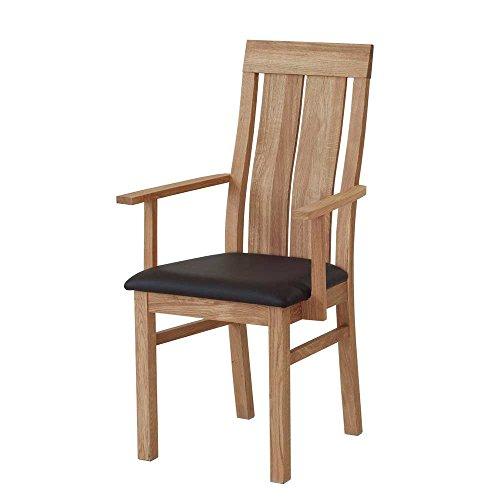 esszimmerstuhl mit armlehnen eiche massivholz pharao24. Black Bedroom Furniture Sets. Home Design Ideas