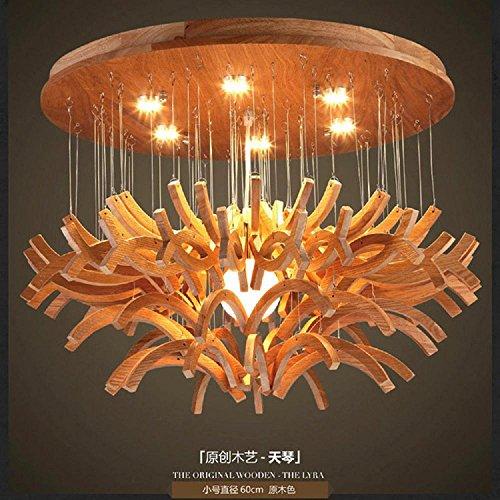FUDA Kronleuchter amerikanischen Dorf Industrial Air pendelleuchte led Ideen esszimmer wohnzimmer Holz Lampe 800*450 (mm) 12V S (Durchmesser 60 cm)
