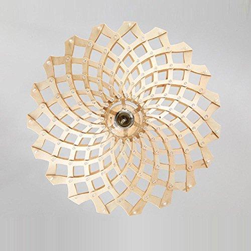 FUDA Kronleuchter amerikanischen minimalistischen Esszimmer Kronleuchter Holz hochwertige Lampen 450*160 (mm) 220V warmes Licht