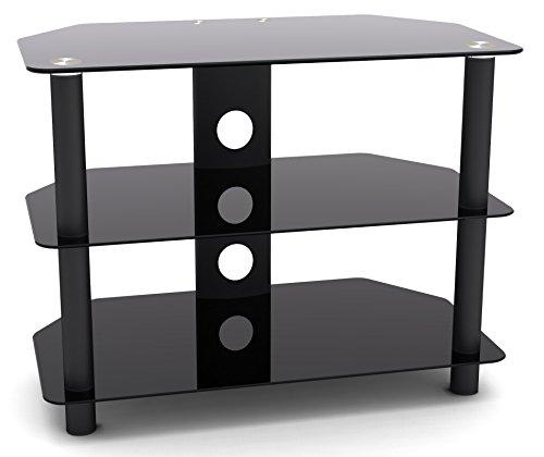 Fernsehtisch TV Rack schwarz in diversen Größen