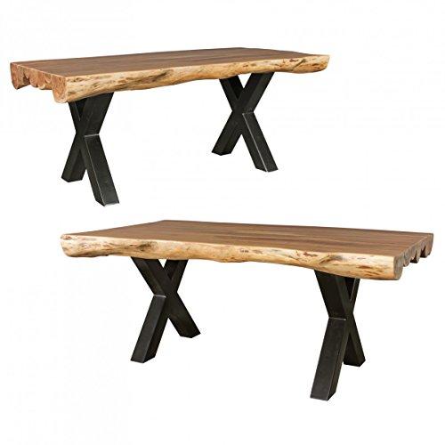 FineBuy-Esszimmertisch-Akazie-Landhaus-Stil-Voll-Holz-Design-Esstisch-rechteckig-Tisch-fr-Esszimmer-Baumstamm-Kchentisch-6-8-Personen-0