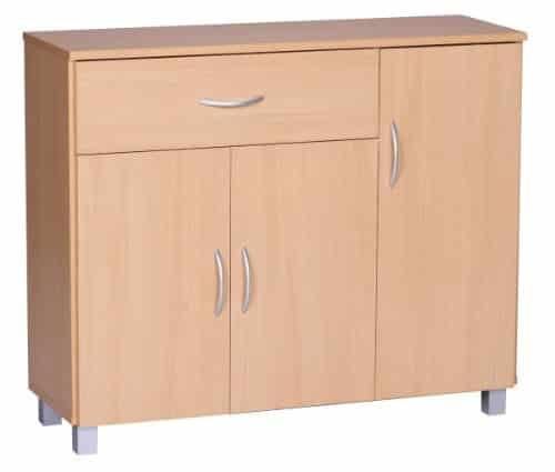 FineBuy Sideboard 90 x 75 cm mit 3 Türen & 1 Schublade