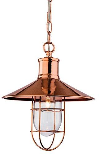 Firstlight 2306AC E14, kleine Edison-Schraube, 60 W Pendelleuchte-Crescent Modern kupfer