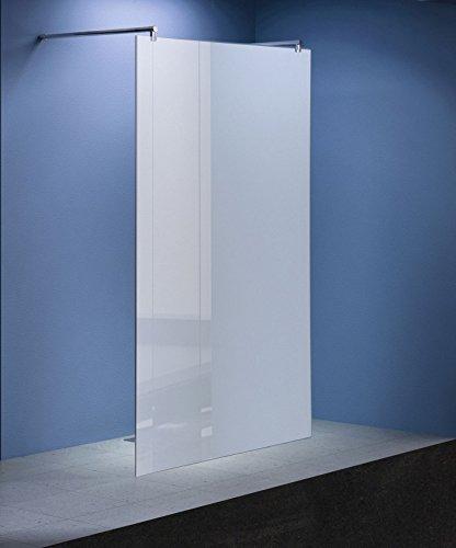 Freistehende 10 mm Duschabtrennung Düsseldorf - Milchglas, Frost 118 x 200 cm / Walk-In Duschtrennwand Duschwand Dusche
