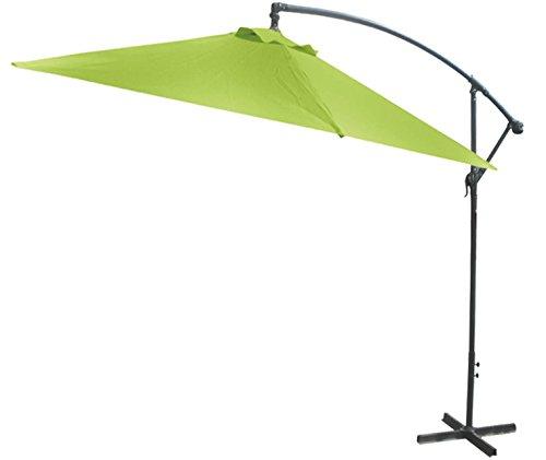 GDWorld-Kurbel-Ampelschirm-Sonnenschirm-3m--mit-Fusskreuz-Lime-Grn-0