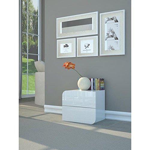 nachttisch sandgrau hochglanz interessante. Black Bedroom Furniture Sets. Home Design Ideas