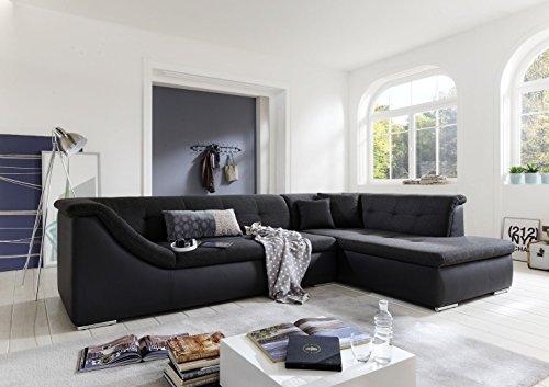 Garnitur Sofa Wohnlandschaft Kassel mit Schlafcouch XXL L-Form