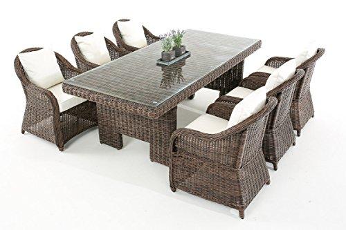 Garten-Garnitur-CP065-Sitzgruppe-Lounge-Garnitur-Poly-Rattan-Kissen-cremewei-braun-meliert-0