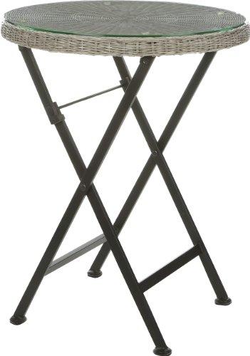 Gartenfreude-Tisch-Balkontisch-Rundfaser-Polyrattan-Polyrattan-Grau-60-x-74-cm-DxH-0
