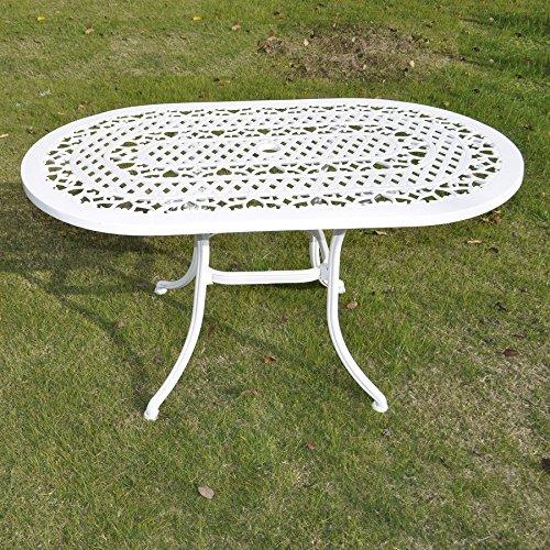 Gartengarnitur-Elise-136-x-81cm-Ovale-Aluminium-Siztgruppe-1-Weier-ELISE-Tisch-4-Weie-APRIL-Sthle-0