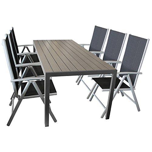 gartengarnitur sitzgarnitur sitzgruppe gartenm bel terrassengarnitur terrassenm bel 7 teilig. Black Bedroom Furniture Sets. Home Design Ideas