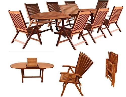 Gartengarnitur-Sitzgruppen-Gartenmbel-Set-Holz-Akazie-9tlg-Tisch-180260-cm-FSC-ZERTIFIZIERT-0