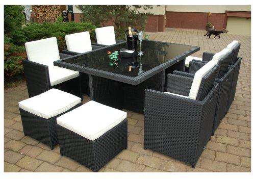 Gartenmbel-PolyRattan-Essgruppe-Tisch-mit-6-Sthlen-4-Hocker-DEUTSCHE-MARKE-EIGNENE-PRODUKTION-Garten-Mbel-incl-Glas-und-Sitzkissen-Ragnark-Mbeldesign-0