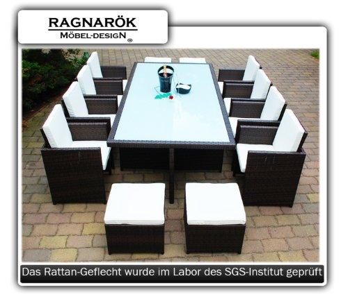 Gartenmbel-PolyRattan-Essgruppe-Tisch-mit-8-Sthlen-4-Hocker-DEUTSCHE-MARKE-EIGNENE-PRODUKTION-Garten-Mbel-incl-Glas-und-Sitzkissen-Ragnark-Mbeldesign-braun-0