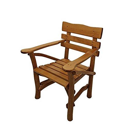 Gartenstuhl mit Armlehnen massiv Holz Pharao24