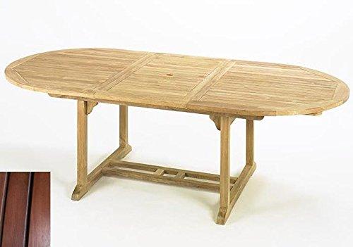 Gartentisch-oval-180240x115x75cm-ausziehbar-Karriholz-rotbraun-Hartholz-Holztisch-0