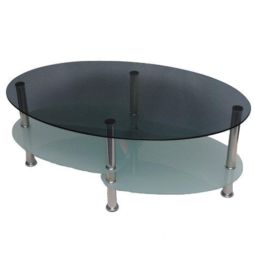 glastisch couchtisch wohnzimmer oval 8 mm esg sicherheitsglas rauchglas m bel24. Black Bedroom Furniture Sets. Home Design Ideas