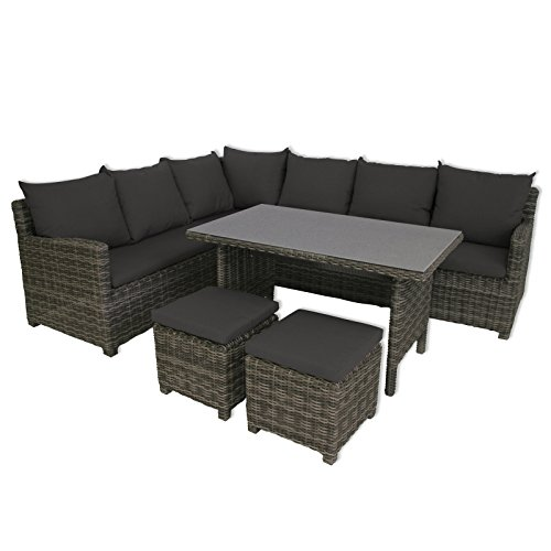 Greemotion Lounge Set Miami, Mehrfarbig, 208x88x77cm