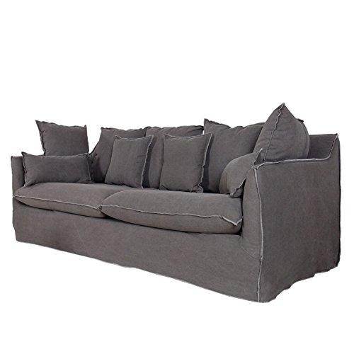Groes-Hussensofa-HEAVEN-Baumwollstoff-stone-washed-grau-3er-Sofa-215-cm-0