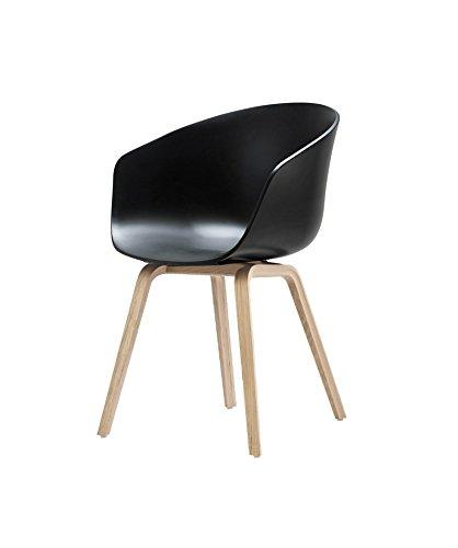 HAY - About a Chair AAC 22 - schwarz - Eiche geseift - Hee Welling - Design - Esszimmerstuhl - Speisezimmerstuhl