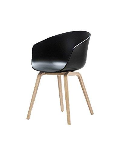 HAY - About a Chair AAC 22 - schwarz - klar lackiert - Hee Welling - Design - Esszimmerstuhl - Speisezimmerstuhl