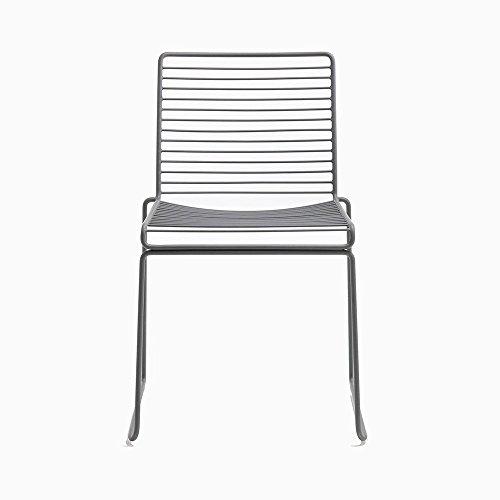 HAY Hee Dining Stuhl, grau lackiert 47,5x79x50cm Sitzhöhe: 47cm