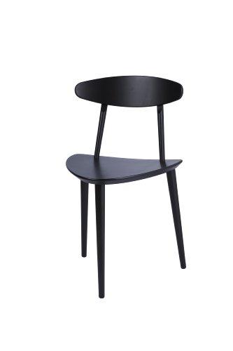 hay j107 stuhl schwarz lackiert m bel24. Black Bedroom Furniture Sets. Home Design Ideas
