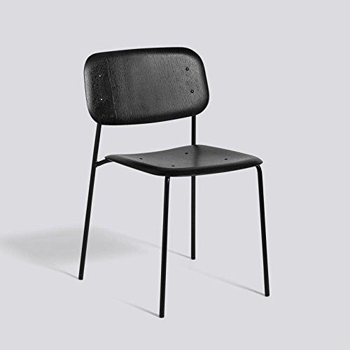 HAY Soft Edge Stuhl Gestell Metall schwarz, eiche schwarz Gestell Metall schwarz