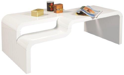 """HL Design 01-03-438.1 Couchtisch """"Pedro"""", 1100 x 600 x 400 cm, hochglanz weiß lackiertMaterialstärke 40 mm,"""