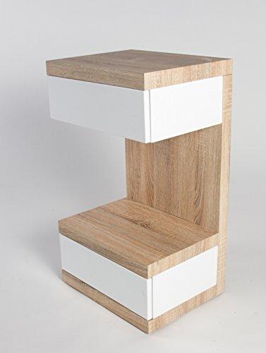 HL-Design-01-08-1082-Boxspring-Nako-Linus-32-x-32-x-70-cm-Nako-Korpus-Sonoma-eiche-hell-Schubladen-wei-hochglanz-push-to-open-Rollen-verdeckt-0