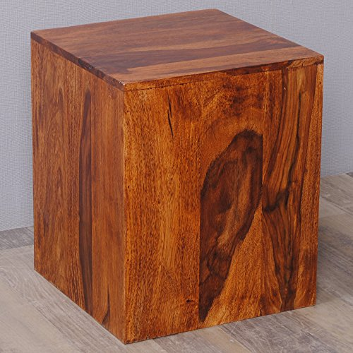 holzhocker beistelltisch massivholz sheesham ramu 40cm palisander natural m bel24. Black Bedroom Furniture Sets. Home Design Ideas
