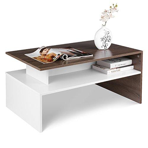 HOMFA Couchtisch Wohnzimmertisch Beistelltisch Holztisch Kaffeetisch Holz 90x54x42cm