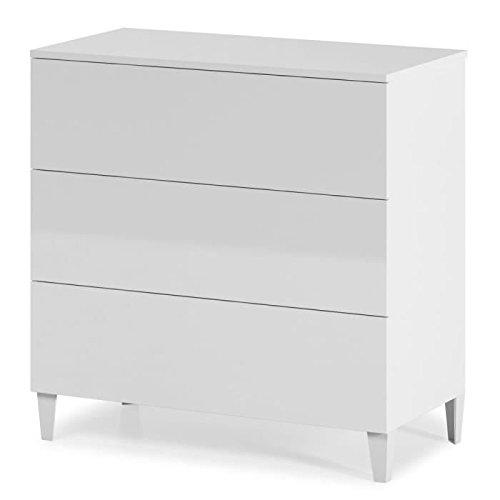 Habitdesign-007833BO-Kommode-im-skandinavischen-Stil-hochglnzend-Wei-76-x-80-x-40-cm-0