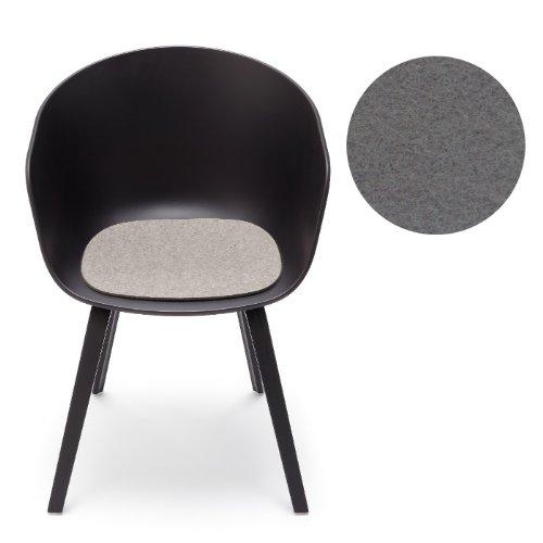 Hay About A Chair Filz-Sitzauflage Hellgrau Hey-Sign