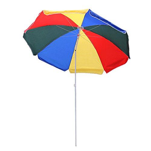 Hengda® Bunt Sonnenschirm Garten Schirm Marktschirm Ampelschirm Kurbel Schirm für Garten, Terrasse, Loggia, Balkon, Camping-Platz, Pool, Planschbecken