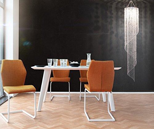 Hängelampe Big Strass Transparent 30x175 cm Acrylglas Hängeleuchte