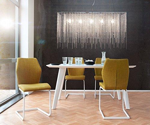Hängelampe Cybill Transparent 120x98 cm in der Höhe verstellbar