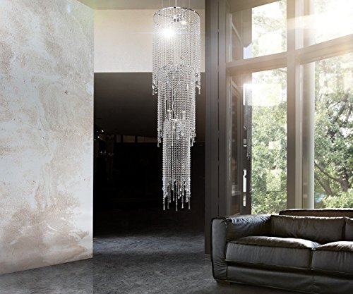 Hängelampe Strass Fontain Transparent 46x350 cm Acrylglas