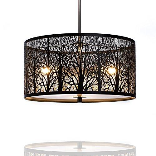 h ngeleuchte natura deckenlampe 40cm natur wald. Black Bedroom Furniture Sets. Home Design Ideas