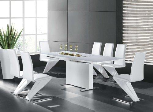 Hochglanztisch Wohnzimmertisch Tisch Hochglanz weiss 150 - 210 x 90 cm Esstisch