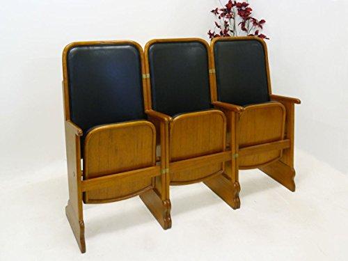 Hochwertige 3er Sitzreihe Kinositze aus Mahagoni