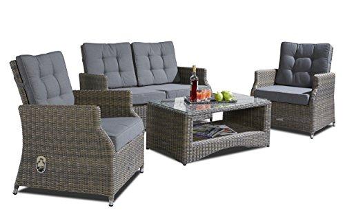 Hochwertige-Polyrattan-Sitzgruppe-4-tlg-inkl-Kissen-Gestell-aus-Alu-Rattan-Luxus-Gartenset-Gartenmbel-Loungeset-Sitzgruppe-Loungembel-Sitzgruppe-Gartenset-Sitzgarnitur-Sofalounge-Garnitur-Grau-0