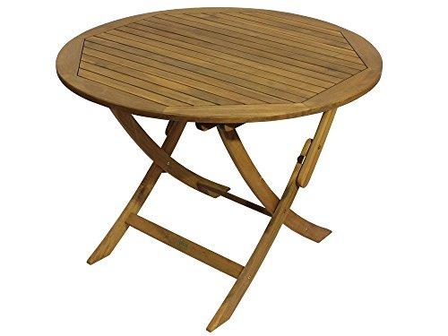 Holz-Gartentisch-rund-Klapptisch--100-cm-Terrassentisch-Massivholz-0