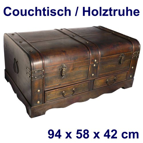 holztruhe couchtisch mit 2 schubladen gre 94 x 58 x 42 cm 0 moebel24. Black Bedroom Furniture Sets. Home Design Ideas