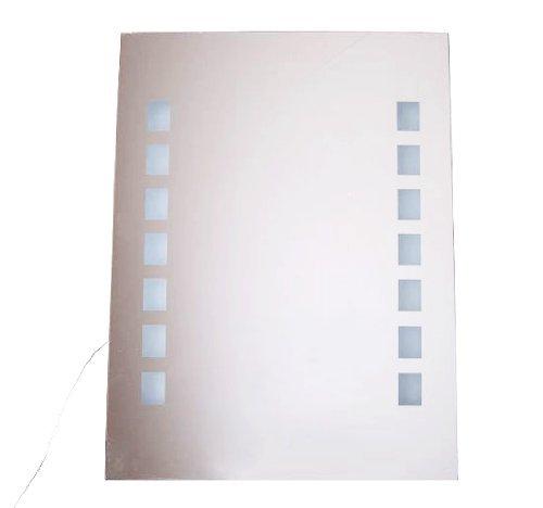 Homcom® 60 x 80cm Lichtspiegel Badspiegel LED Spiegel Badezimmerspiegel Wandspiegel (66 LEDs)