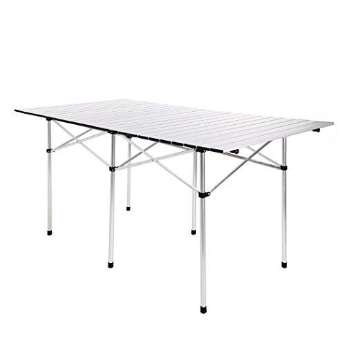 Homdox Aluminium faltbar Klapptisch Campingtisch Gartentisch Tisch tragbar 140 x 70 x 70 cm mit Tragetasche