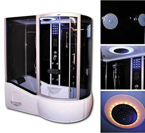 Home-Deluxe-ALL-IN-2in1-schwarz-rechts-Duschtempel-inkl-komplettem-Zubehr-0